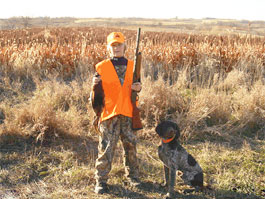First Pheasant Hunt with Dog