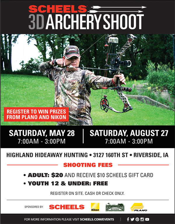 Scheels 3D Archery Shoot Flyer