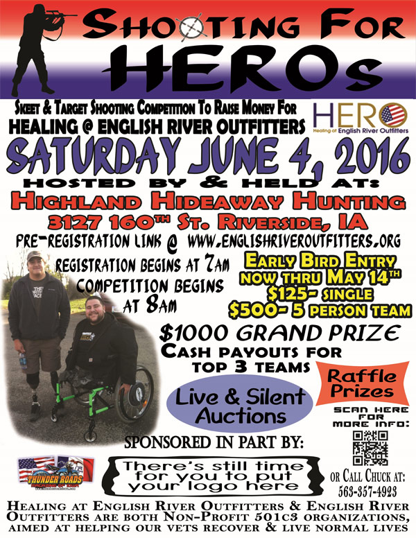 Shooting for HEROs flyer