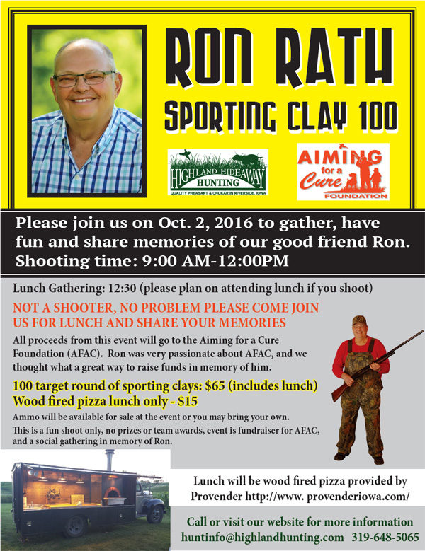 Ron Rath Sporting Clay 100