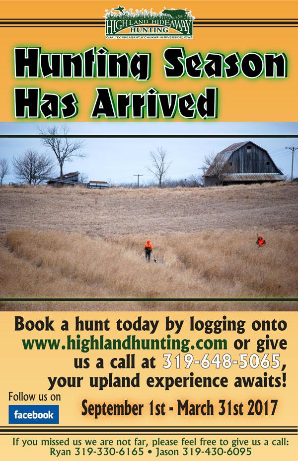 2016 Iowa Pheasant Hunting Preserve Season Opener